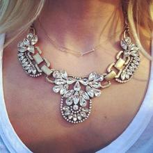 Promotion 2014 Fashion Crystal Collar Statement Necklaces Personalized Vintage Retro Choker Jewelry For Women Free Shipping