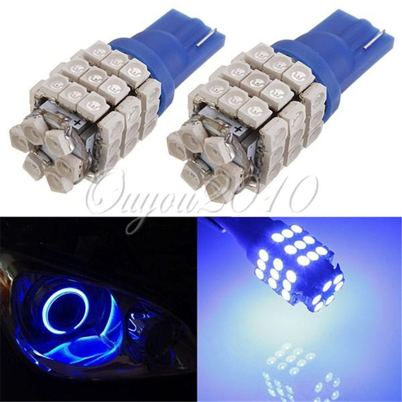 2pcs/lot Colorful 42 SMD T10 W5W 194 161 168 1206 LED Bulb Car Auto Side Wedge Park Turn Interior Lights Wholesale Free Shipping(China (Mainland))