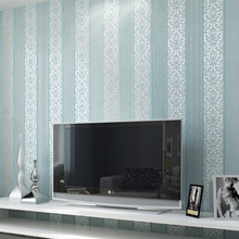 Modern Minimalist 3d Enbossed Non-woven Vertical Stripe Floral Wallpaper Home Decoration Wall Paper Roll Free Shipping 0.53*10m(China (Mainland))