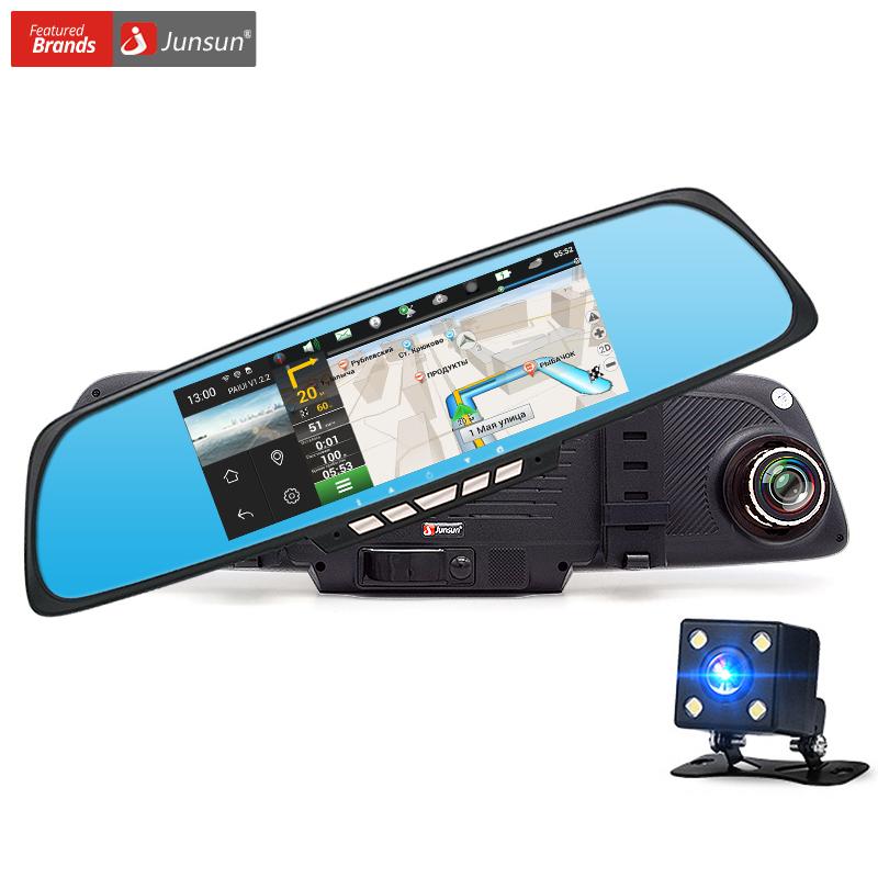 "Junsun 6.86"" Car Camera DVR GPS Navigation Dual Lens Rearview Mirror Video Recorder FHD 1080P Automobile DVR Mirror Dash cam(China (Mainland))"