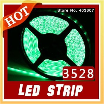 RGB LED Strip Light Flexible Tape Red Blue Green SMD 3528 60LED/M Waterproof IP65 300LED 5 Meter Free Shipping with Tracking New