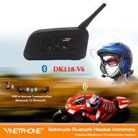 bluetooth headphone 1*bt  wireless Helmet Headset Motorcycle Intercom for 6 Riders 1200m wireless walkie talkie