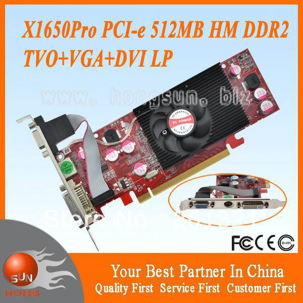 100% New AMD Radeon X1650Pro PCIExpress 512MB HM Video Card S-Video+VGA+DVI Low Profile Dropship Free Shipping w/tracking number(China (Mainland))