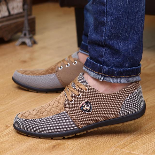 2016 весной мужской обуви свободного покроя босоножки холст на плоской подошве с ...