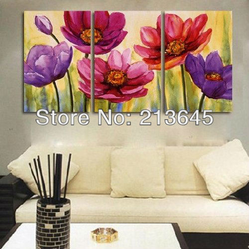 3 piece hand painted art canvas set modern abstract oil. Black Bedroom Furniture Sets. Home Design Ideas