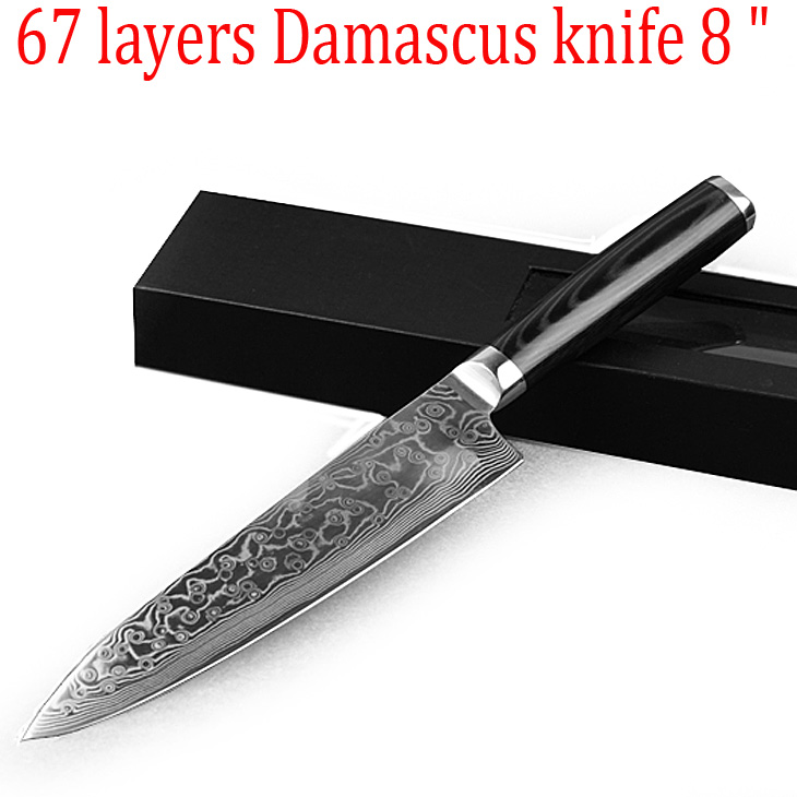 japanese vg10 damascus steel damascus knife kitchen 1pcs 8 inch utility universal knife with. Black Bedroom Furniture Sets. Home Design Ideas