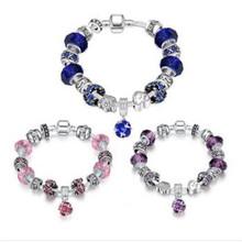 Buy Brand Charm Bracelets & Bangles 925 sterling Silver Zircon Women Elegant Fashion Wedding Party Jewelry NEW Sl 111 for $5.84 in AliExpress store