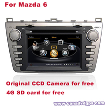 HD Mazda 6 Car Navigator GPS System DVR WIFI 3G CCD Camera SD Card for free Better Quality Better Service Free Shipping+Gifts(China (Mainland))