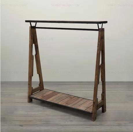French wrought iron to do the old retro shoe racks clothing display clothing store shelf Coat hangers<br>