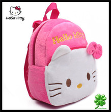 Hot 1 2 years old small children s plush Hello Kitty bow backpack Kid s Child