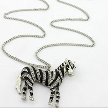 Hot Sale Fashion Necklace Luxury Special Fashion Zebra Long Necklace For Women(China (Mainland))