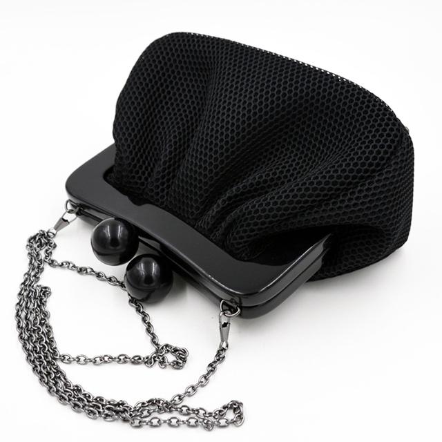 Высокое качество черный заклепки ведро мини-клатч вечером сумки свадебный банкет сумки кошелек цепи сумка лоскут