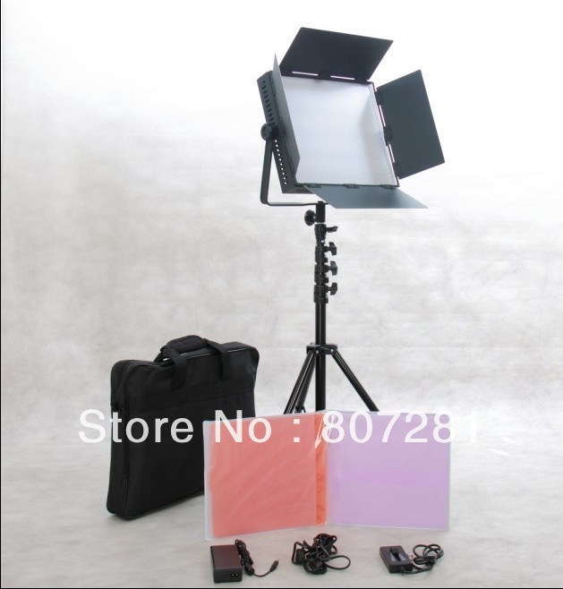 1200 LED Video Studio Panel Light Film + battery Mount + dimmable(China (Mainland))