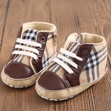 1 Pair Send Plaid Newborn Baby Shoes Boy Infant Toddler Chaussure Boots Kids Children Sport Sneakers Girl Bebe Sapatos Booties(China (Mainland))