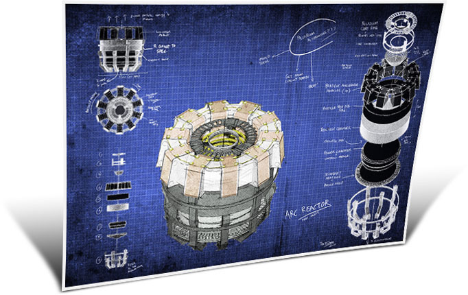 024 plan iron man arc reactor 33 x 24 affiche dans for Plan d iron man