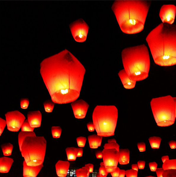 Brazil Free Shipping Chineses Kongming Lantern Flying Sky Lantern Wishing Lamp Hot Air Balloons (10pcs Assorted Color)(China (Mainland))
