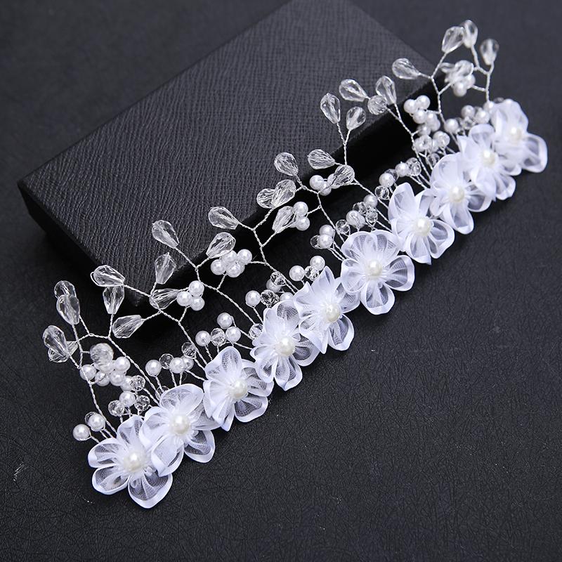 Mujeres Blanco Imitación Perla Cristal Peine Tiara Nupcial Wedding Prom Party Headwear Head Band Pelo de la Horquilla de Joyería 3166(China (Mainland))