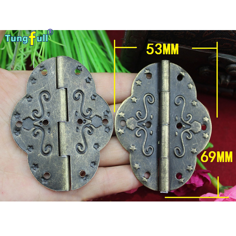 Hot Sale Rushed Fast shipping 69*53mm Printing Hinge Antique Oval Metal Large(China (Mainland))