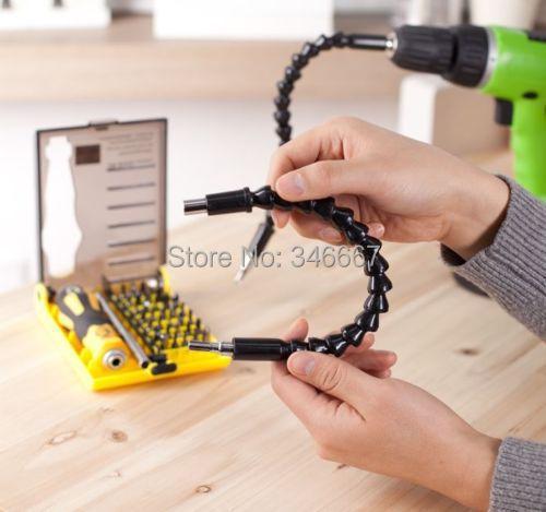 12 Flexible Extention Screwdriver Drill Bit Holder Free shipping Flexible bits drill flexible screwdriver