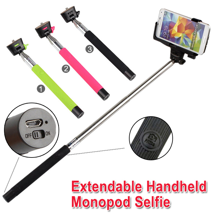 monopod wireless bluetooth remote control bluetooth tripod selfie stick rotary extendable. Black Bedroom Furniture Sets. Home Design Ideas