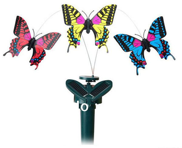 Free Shipping+Plastic Solar Powered Toys Christmas Gift For Children,Family Educational Mechanical Solar Energy Flying Butterfly(China (Mainland))