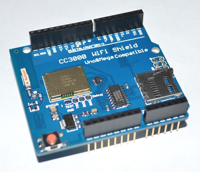 CC3000 WiFi Shield for Arduino R3 with SD card support MEGA2560 Wireless module