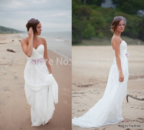 2015 Simple Beach Wedding Vestido De Noiva 2014 Sweetheart