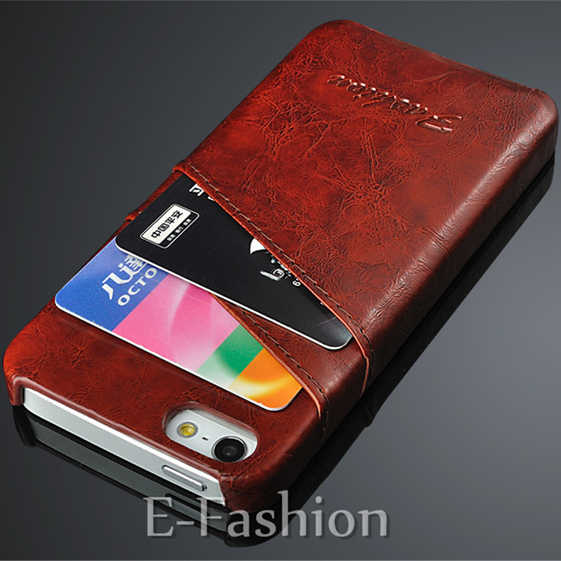 Slim PU Leather Cell Phone Case For Apple iPhone 5 5S SE Credit Card Holder Stand Wallet Protective Back Cover For iPhone 5 5G(China (Mainland))