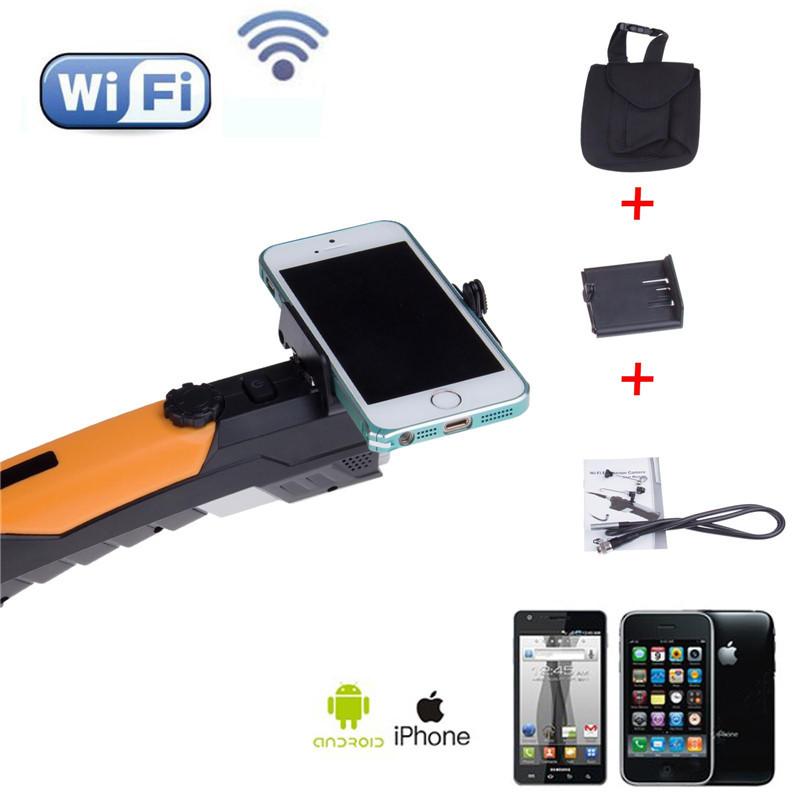 Free Shipping Fashion Wifi Endoscope Inspection Snake Wireless Camera 2MP HD 720P Video borescope 1M(China (Mainland))