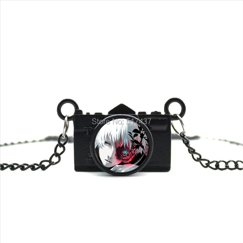 New Arrived DIY Tokyo Ghoul Camera Necklace Kaneki Ken Pendant Jewelry Black Camera Pendant CA--0150(China (Mainland))