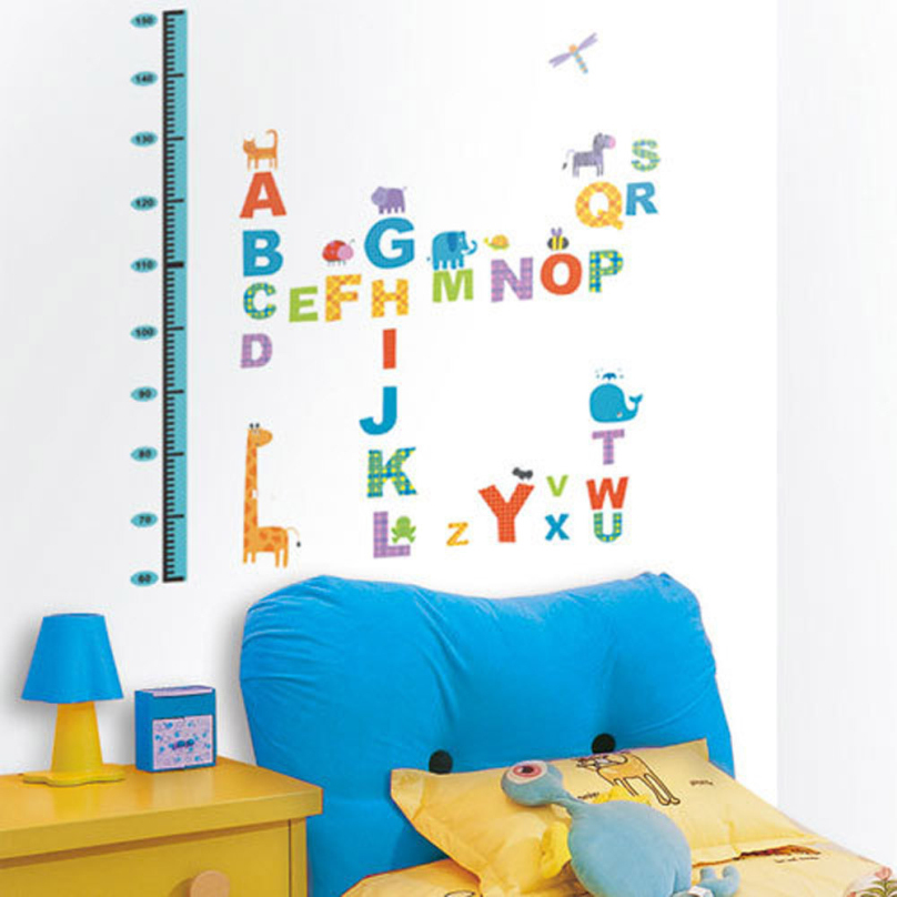 2015 NEW DIY Removable Vinyl Decal Wall Sticker Children's Room Learning Art Decoration Paper Cartoon Style Home Decor CY0723(China (Mainland))