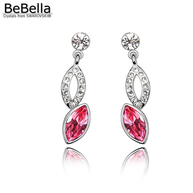 BeBella crystal pendant earrings made with Swarovski Elements for christmas gift