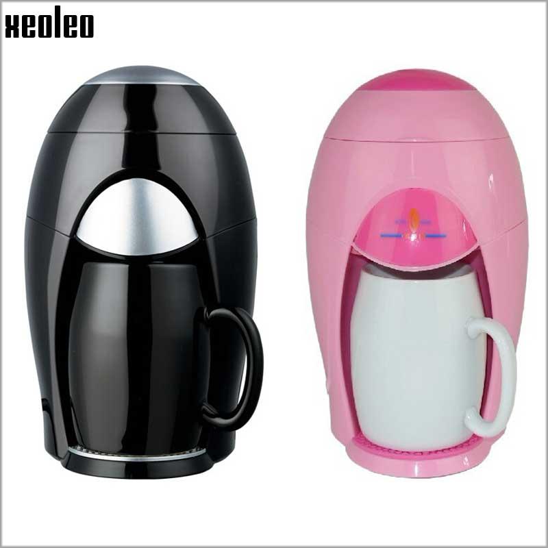 Coffee Maker For Single Person : Xeoleo Mini Coffee maker Automatic Single people Coffee machine American Coffee with Ceramic Cup ...