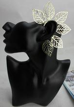 Min 10 New Fashion Sexy Gold Earring Big Leaves Ear Cuff Earrings For Women Non
