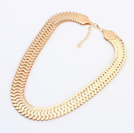 Gold Silver Chunky Chain Necklace Women 2015 New Collar Fashion Vintage Jewelry Necklace Accessories Jewellery(China (Mainland))