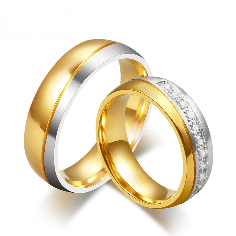 Vintage Wedding Rings CZ Diamond Rings For Women Men