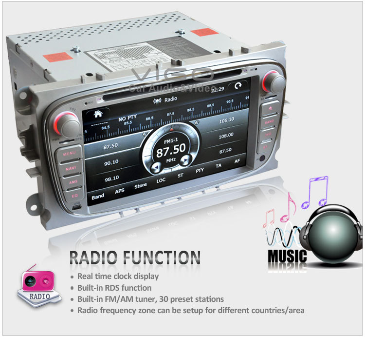 buy car stereo gps navigation for ford focus s max kuga mondeo radio rds dvd. Black Bedroom Furniture Sets. Home Design Ideas