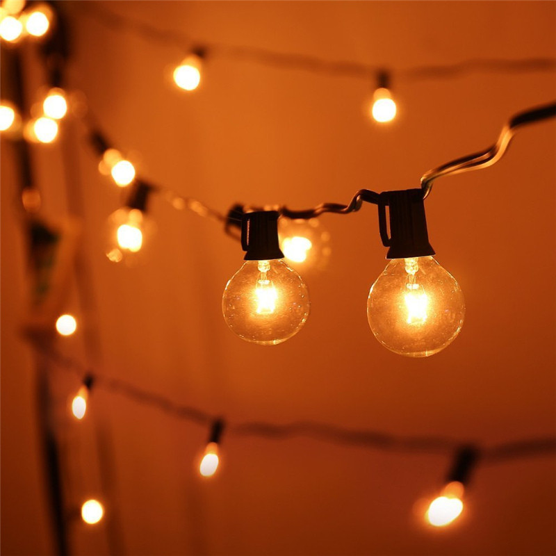 Hanging Globe String Lights : LED Globe String Lights G40 Bulb 25FT C7 Strand Warm White Outdoor Hanging Light eBay