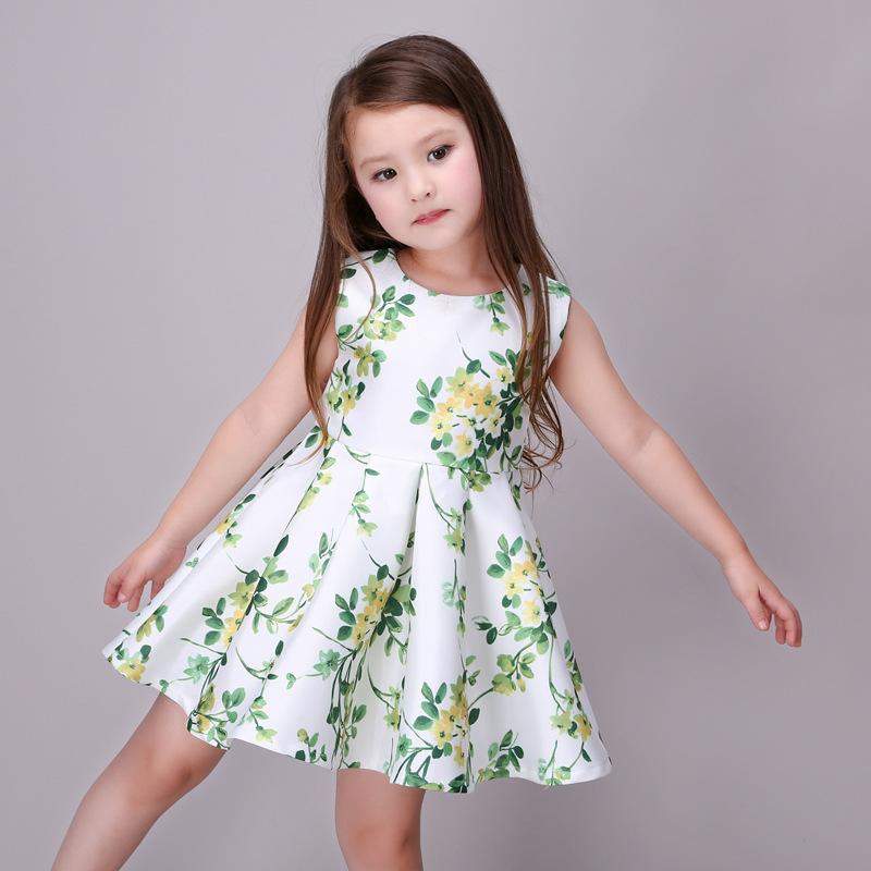 2016 New Kids Summer Flower Dresses For Girls Cute Vest Party Princess Lace Dress Children's Dresses Vestido De Festa Infantil(China (Mainland))