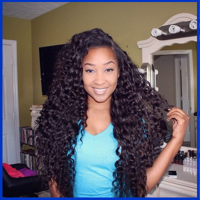 Natural Part Malaysian Remy Hair Kinky Curly Glueless Remy Full Lace Wig Human Hair Kinky Curly Lace Front Wig With Baby Hair(China (Mainland))
