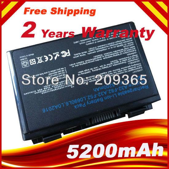 Battery for Asus K40 K40lJ K40lN K401J K40E K50 K50ij K51 K60 K61 A32-F52 A32-F82, free shipping<br><br>Aliexpress