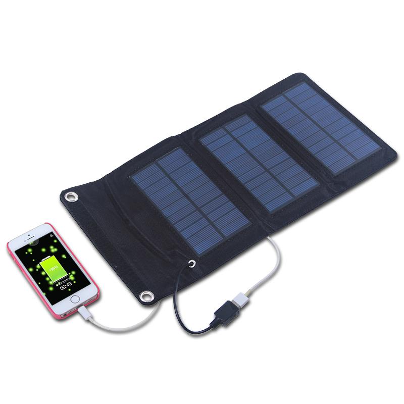 F14657 5 5v 5w Folding Foldable Portable Solar Panel
