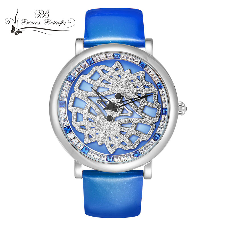 2016 New Fashion Women Swarovski Crystal Element Casual Luxury OEM Quartz Watch Genuine Leather Water Proof WristWatch HL594(China (Mainland))