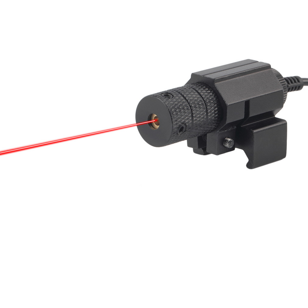 1Set Tactical red dot Mini Red Laser Sight With Tail Switch Scope for Gun Rifle Pistol with Lengthen Rat Tail Hunting Optics(China (Mainland))