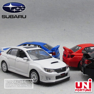 Subaru WRX STI 1:36 Alloy Diecast Model Car Toy With Sound & Light Red Toy collection B1850(China (Mainland))