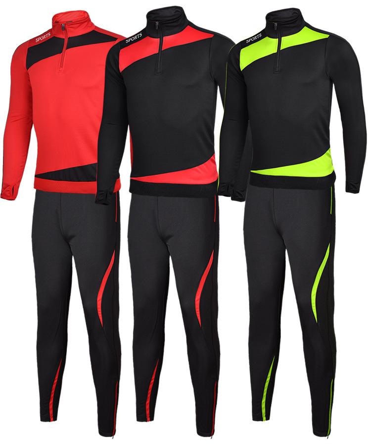 2016 Sport Running Football Sets Long Jacket Suit Kids Soccer Training Pants Survetement Leg boys Pantalon Tracksuits Sportswear(China (Mainland))