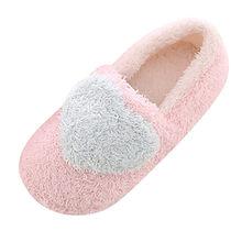 Đáng yêu Nữ Nhà Sàn Mềm Mại Nữ Dép Đi trong nhà Đế Ngoài Cotton Lót Giày Nữ Cashmere Ấm Giày dép L * 5(China)