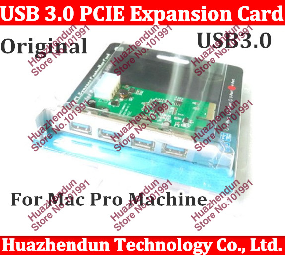 2PCS/LOT PCIe PCI-Express USB 3.0 expansion card, USB 3.0 PCI - E adapter card, 4 ports support MacAdd On Cards<br><br>Aliexpress