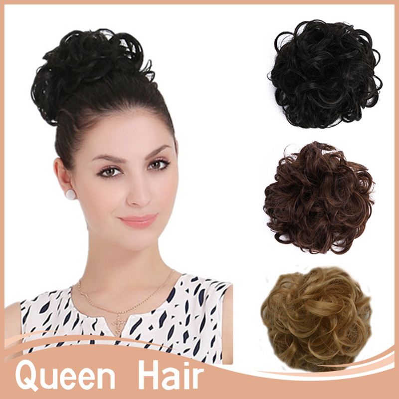 Dropping Shipping 1pcs/lot Curly Chignon Hair Bun Hair Pad Chignon Hairpieces Synthetic Big Bride For Woman Chignon Hair Tail <br><br>Aliexpress