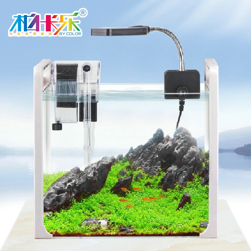Portable mini fish tank aquarium turtle aquarium landscaping small ...
